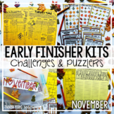 Thanksgiving Activities | Early Finisher Activities | Math