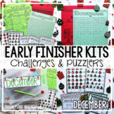 Christmas Math Worksheets Early Finisher Activities | Math Enrichment | December