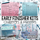 Early Finisher Activities | Math Enrichment | January Winter