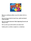 Enrichment Activities for Math, Engineering, Research, and