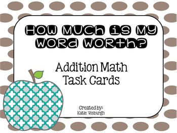 Enrichment Addition Task Cards