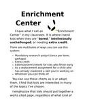 Enrichment Center