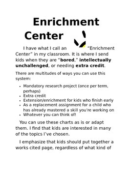 Enrichment Center