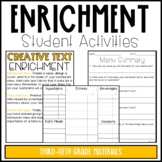 Enrichment Activities (3rd-5th Grade)