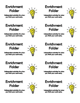 Enrichment Folder Labels