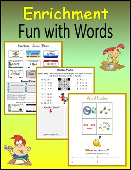 Enrichment:  Fun with Words