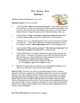 """Enrichment/Gifted Curriculum to accompany """"The Messy Zoo"""" PK-K-1"""