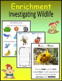 Enrichment:  Investigating Wildlife