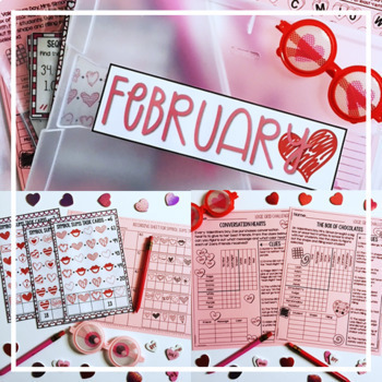 Valentine's Day Activities February Early Finisher Activities   Math Enrichment