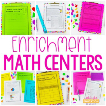 enrichment math centers by ashleigh teachers pay teachers. Black Bedroom Furniture Sets. Home Design Ideas