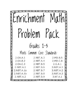 Enrichment Math Problem Pack (Grades 2-3)