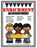 Enrichment ~ Monthly Projects Through the School Year! Bac