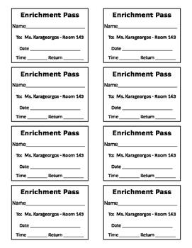 Enrichment Passes