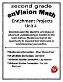 Enrichment Project Packet Unit 4 for enVision Math - 2nd Grade