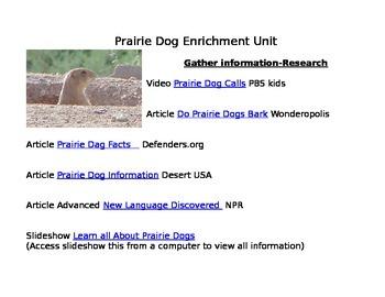 Enrichment Project-Prairie Dogs