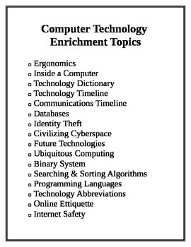 Enrichment Technology Topics