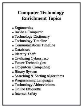 Enrichment Technology Topics