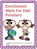 Enrichment Work for Fast Finishers