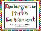 Enrichment Work for Kindergarten Math