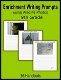Enrichment Writing Prompts using Wildlife Photos - Extra C