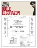 Enrique Iglesias - 'Duele el Corazón' Cloze Song Sheet!