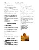 Enrique Iglesias Why not me worksheet