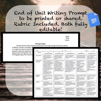 Enrique's Journey Assessments (Essay, Multiple Choice, Short Answer and Kahoot)