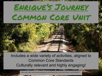 Enrique's Journey Unit-Common Core Aligned!