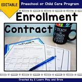 Enrollment Contract for Preschool or Child Care EDITABLE