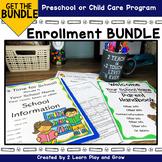 Enrollment Package for Preschool or Child Care Bundle