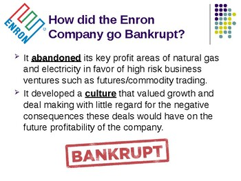 Enron: A Failure in Business Ethics