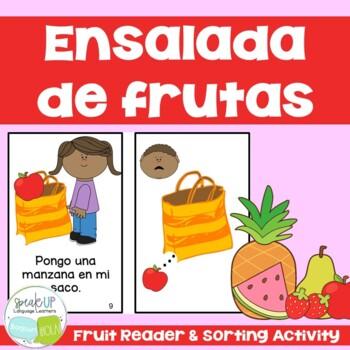 Ensalada de frutas Spanish Reader & Sorting Page {Dual lan