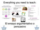Ensayo Persuasivo Argumentativo: Presentation, Rubrics & Handouts bundle!