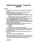 Ensayo: Relaciones Personales (Upper Level Spanish Essay)