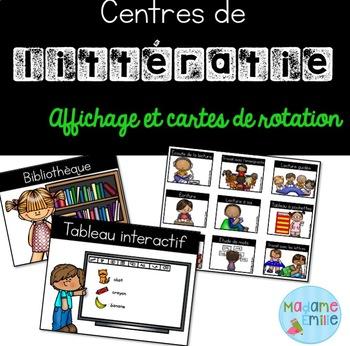 Ensemble Ateliers de littératie / French literacy centres kit