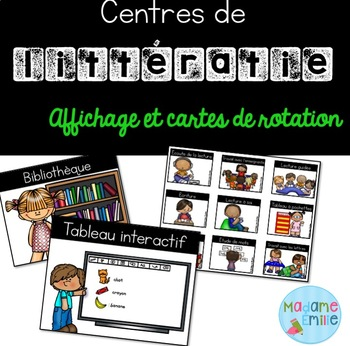 Ensemble Ateliers de littératie / French literacy centres kit