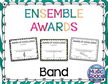 Ensemble Awards {Band}