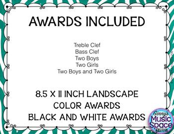 Ensemble Awards {Choir}