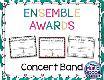 Ensemble Awards {Concert Band}