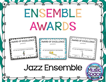 Ensemble Awards {Jazz Ensemble}