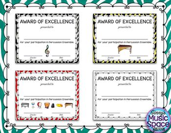 Ensemble Awards {Percussion Ensemble}