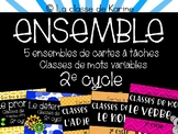 Ensemble - Cartes à tâches - Classes de mots variables