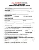 Ensemble Performance Request Form