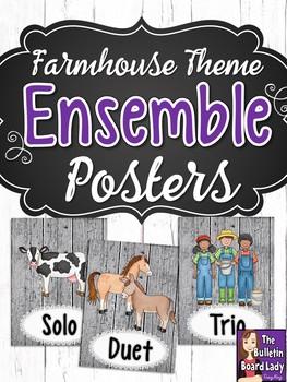 Ensemble Posters - Farmhouse theme