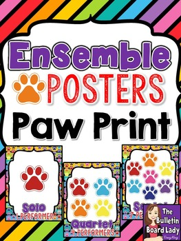 Ensemble Posters Paw Prints Theme
