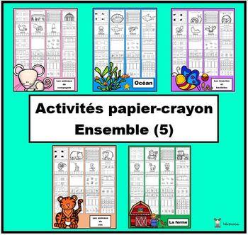 Ensemble: activités papier-crayon