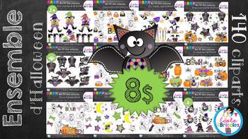 Ensemble cliparts Halloween (bundle)