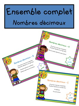 Ensemble complet - Nombres décimaux - 3e année