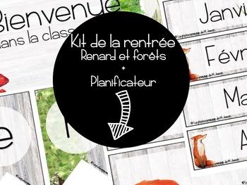 Ensemble complet + Planificateur 3AM2PM 2018-2019 // Renards & Forêts