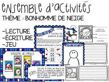 Ensemble d'activité Bonhomme de neige // BUNDLE FRENCH Snowman activities